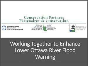 cover of Lower Ottawa River flood warning presentation