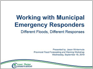 Working with municipal emergency first responders presentation cover page