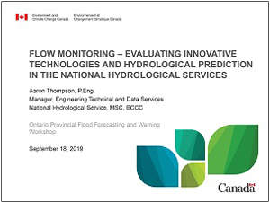 Flow monitoring presentation cover page