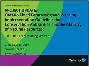 Ontario Flood Forecasting and Warning presentation cover page