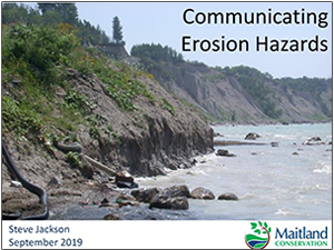 Communicating erosion hazards presentation cover page
