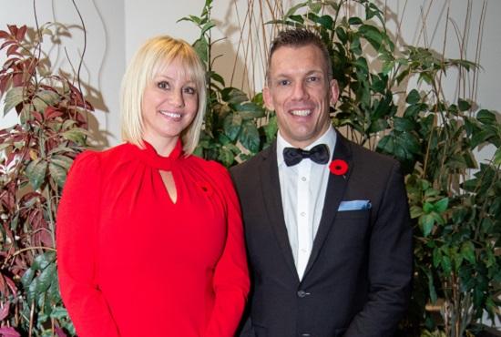 TRCA Chair Jennifer Innis and TRCA CEO John MacKenzie celebrate environmental leaders at 2019 Living City Dinner