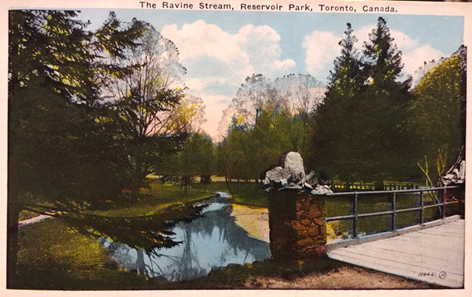 A picture postcard dating from the early 1900s depicting the historic Yellow Creek bridge. Source: Lorraine Tinsley, 2019.