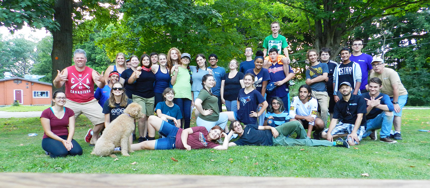 Boyd Archaeological Field School students pose for group photograph at Claremont Nature Centre