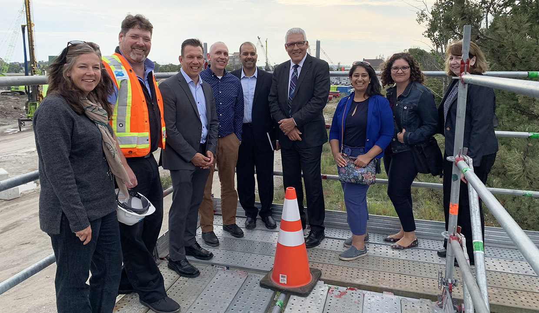 Ontario special advisor on flooding Doug McNeil joins TRCA staff on tour of flood prone areas