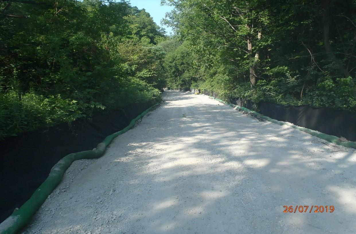 granular base for future trail along East Don River