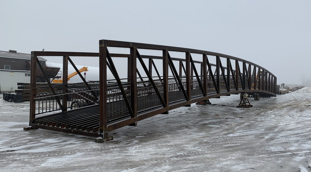 new bridge for East Don Trail