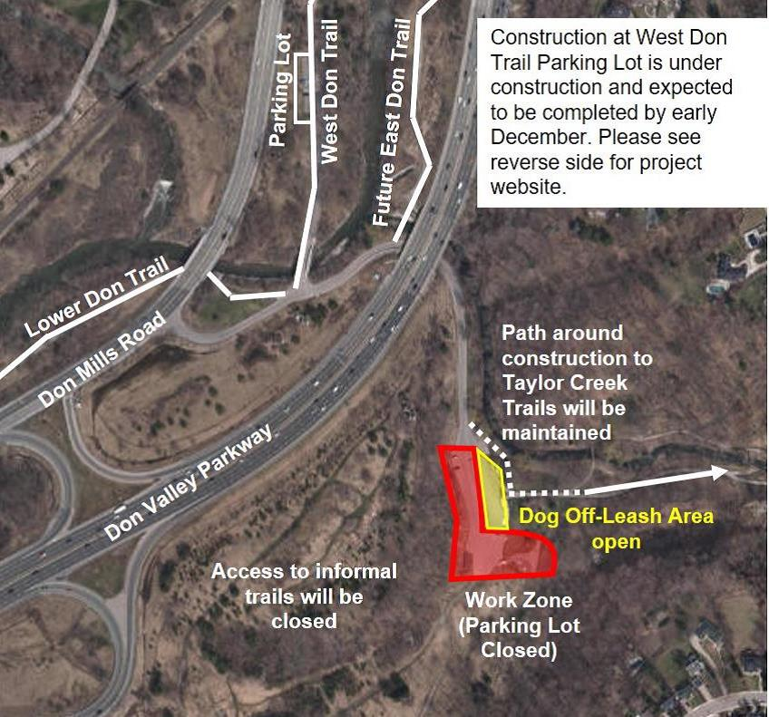 map of Coxwell tunnel bypass project