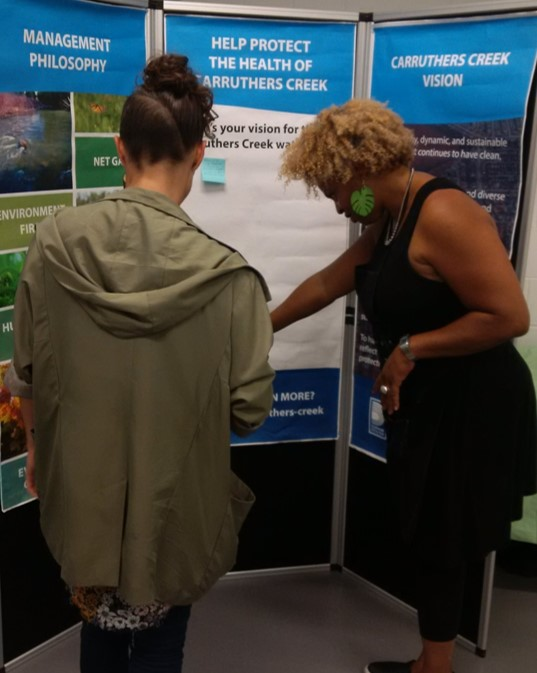Carruthers Creek watershed plan pop-up event