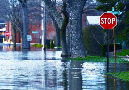 flooded urban street