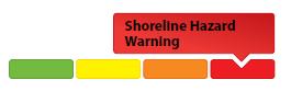 sample of shoreline hazard warning graphic