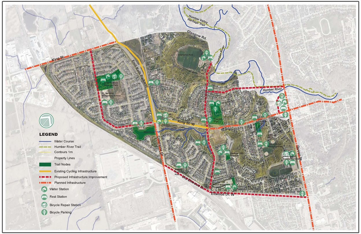 map of proposed West Bolton SNAP cycling trail