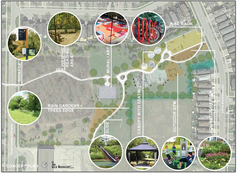 concept plan for Adam Wallace Memorial Park