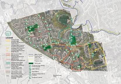 map of proposed West Bolton SNAP walking trails