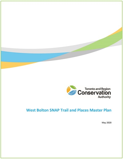 cover page of West Bolton SNAP trail master plan