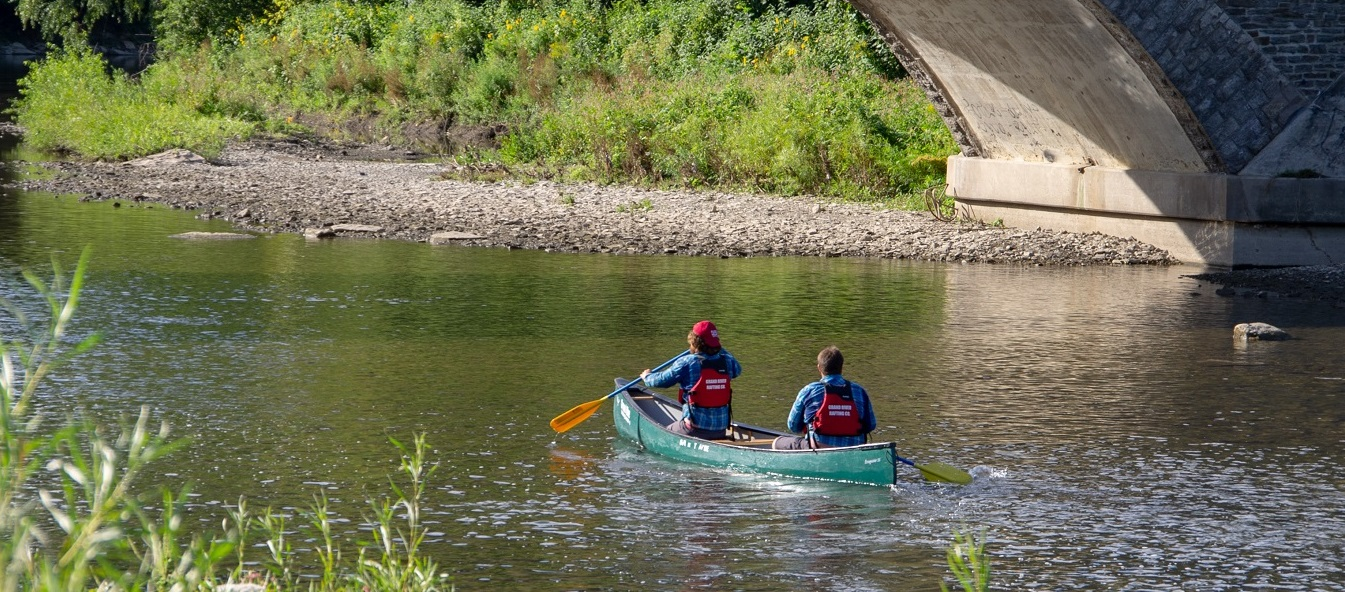 paddlers take part in Humber By Canoe event in 2019