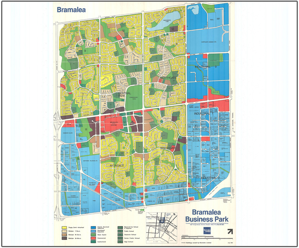 1989 map of Bramalea Business Park
