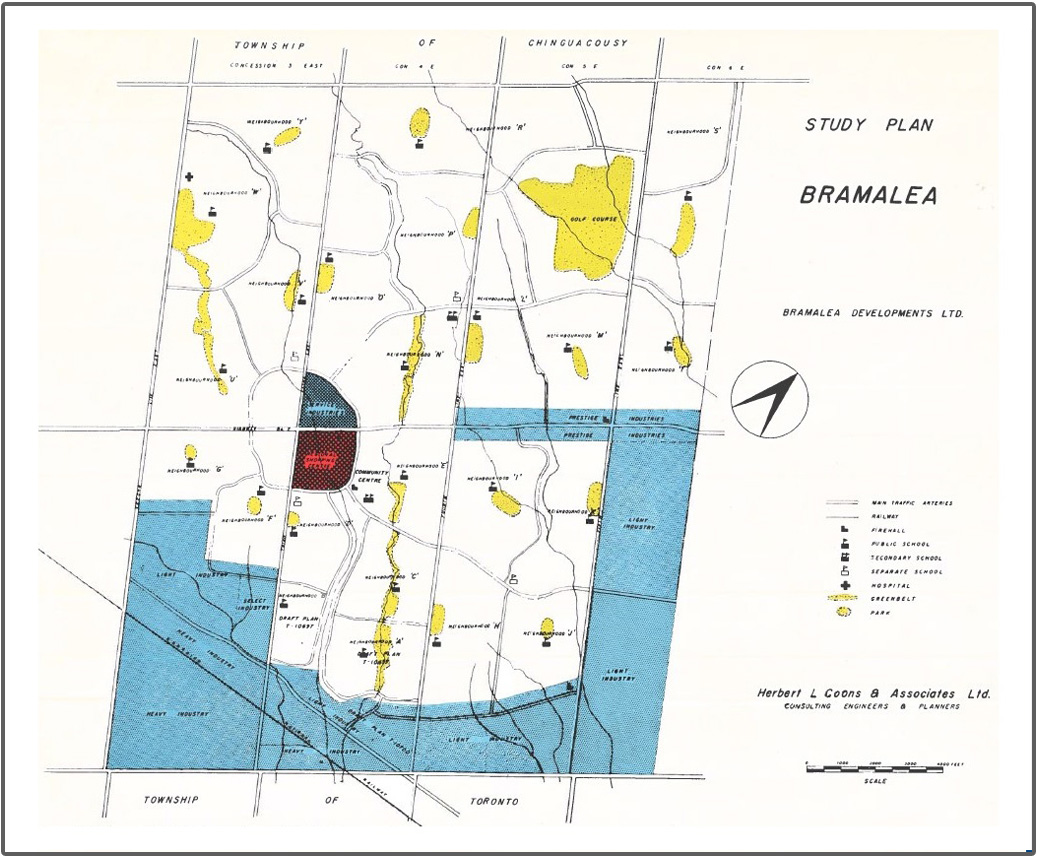 1958 Bramalea study plan map
