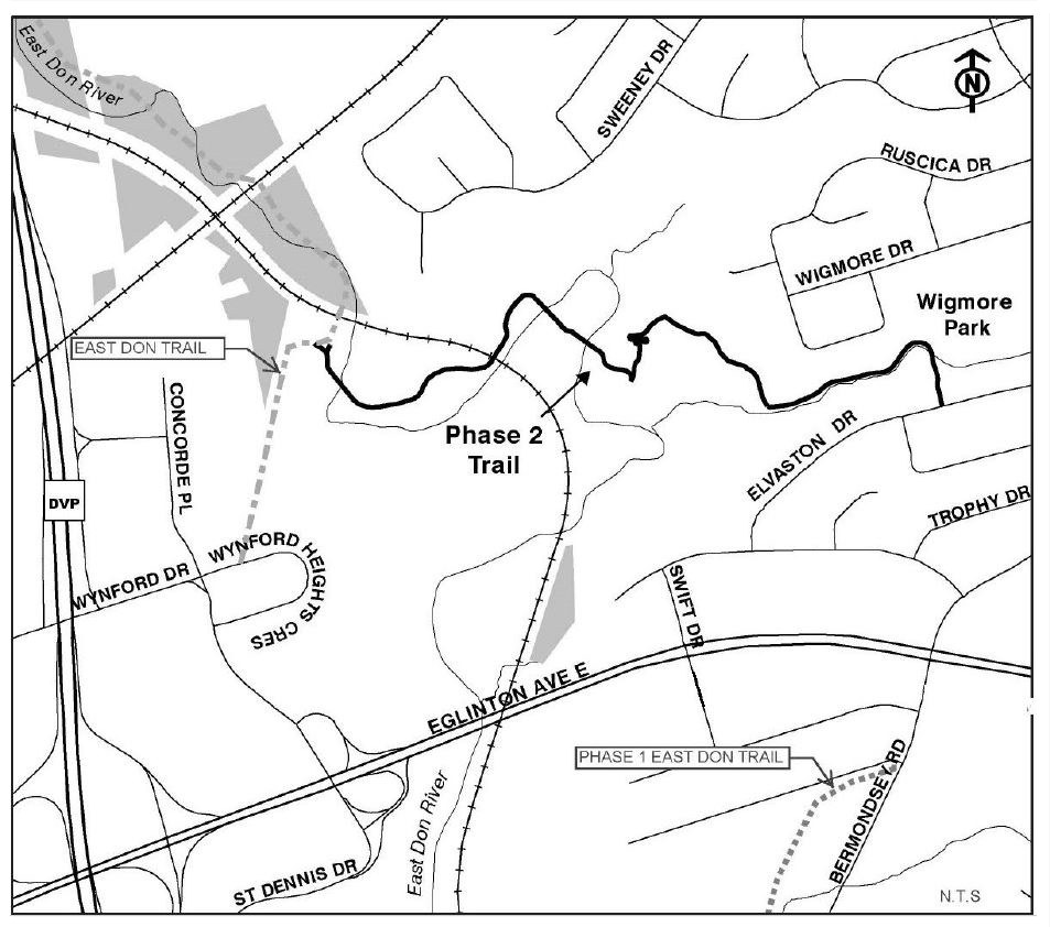 map of East Don Trail phase two