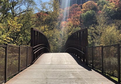 a bridge on the completed East Don Trail phase two spans the Don River