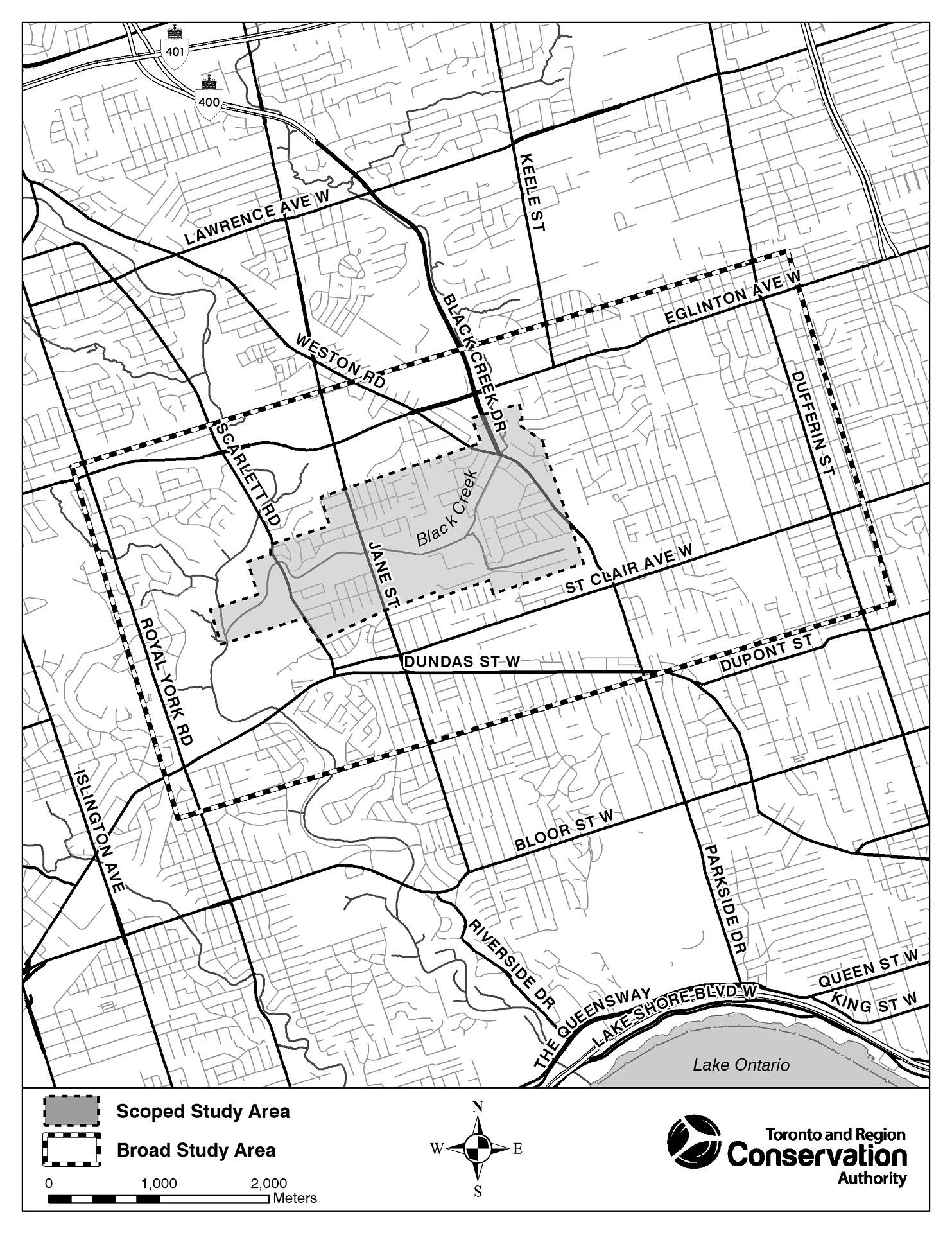map of Rockcliffe-Smythe Municipal Class Environmental Assessment study area
