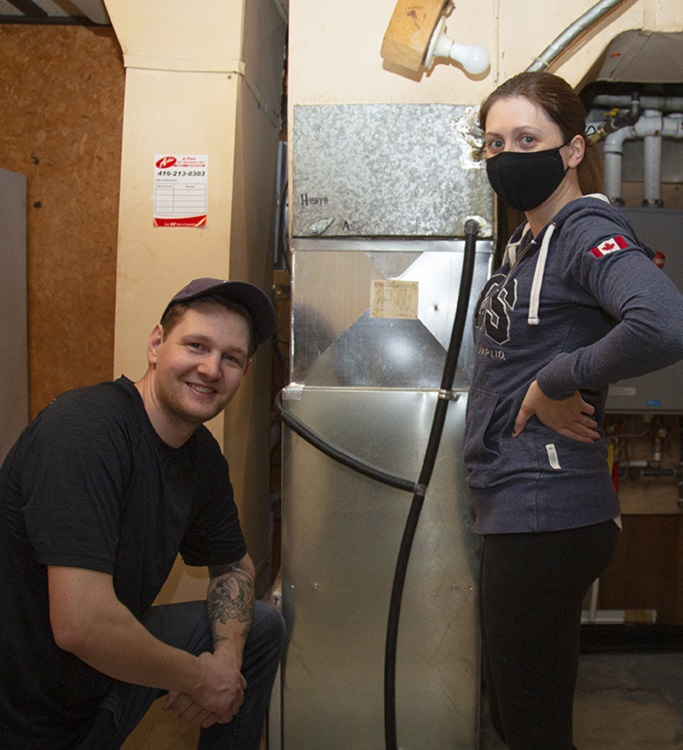 Green Home Makeover Homeowners showcase their new energy efficient tankless water heater and furnace