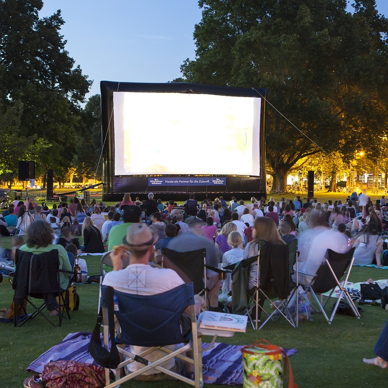 outdoor movie night in a park