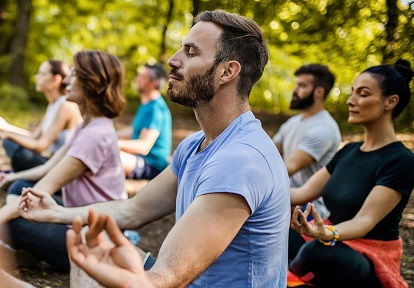 forest bathing and nature meditation