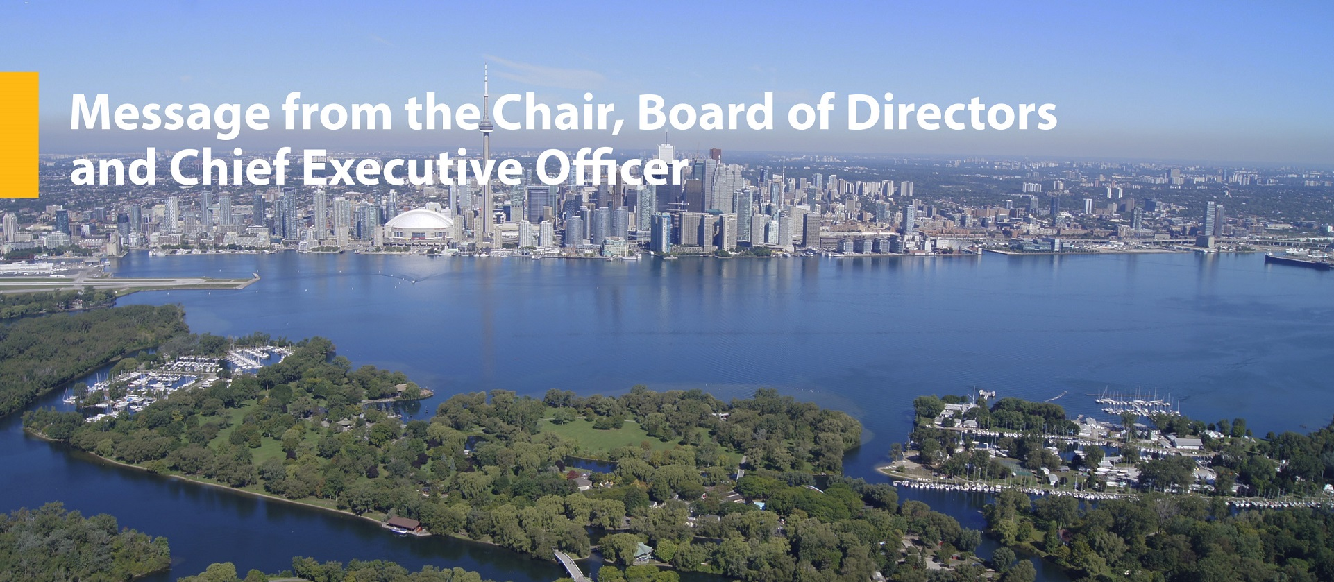 Message from the chair of the TRCA board of directors and the chief executive officer