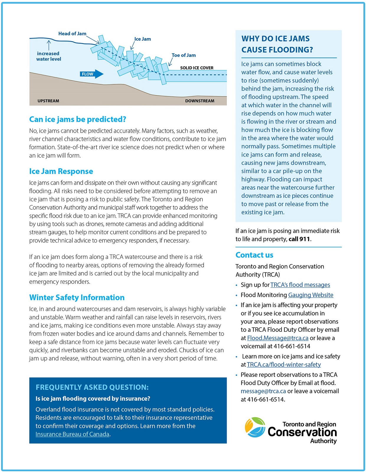 TRCA ice jams public information guide page 2