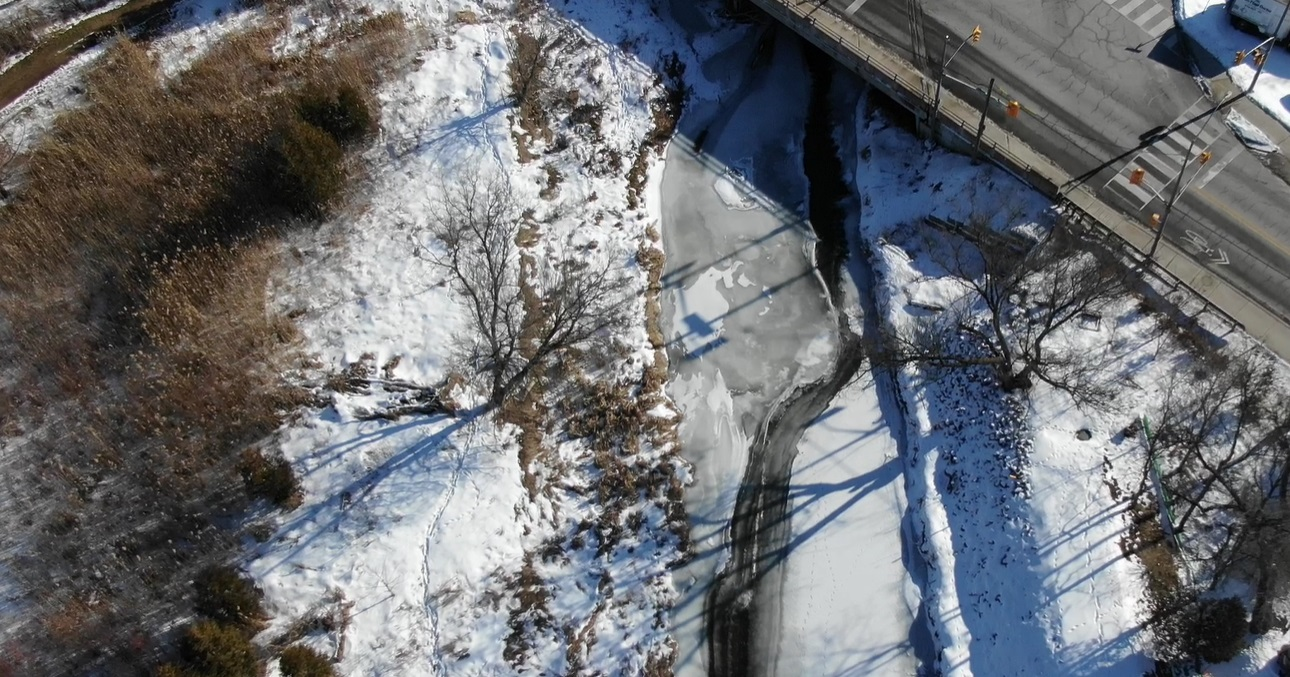 drone monitoring image of Humber River