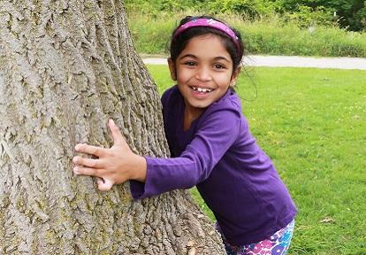 summer camper enjoys outdoor adventure at Kortright Centre
