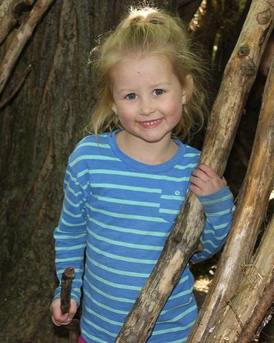 TRCA summer camper builds shelter at Swan Lake camp