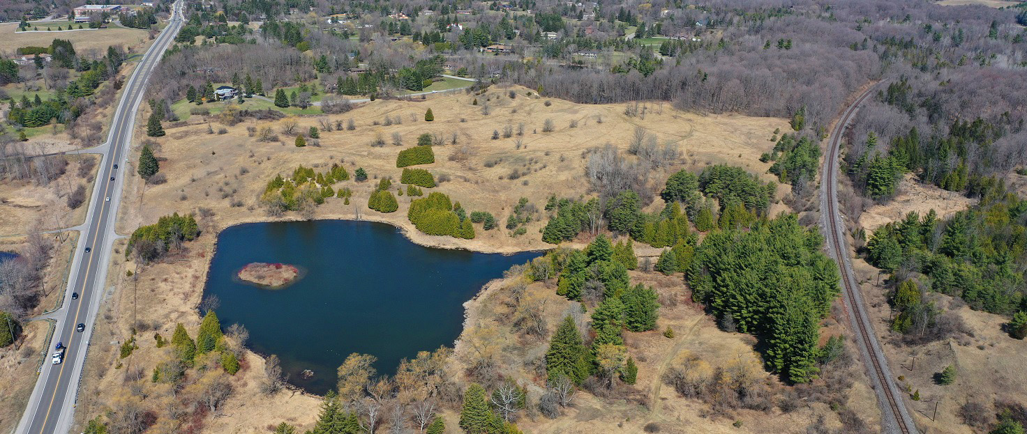 aerial view of a portion of the Bluecrown Holdings lands acquired by TRCA