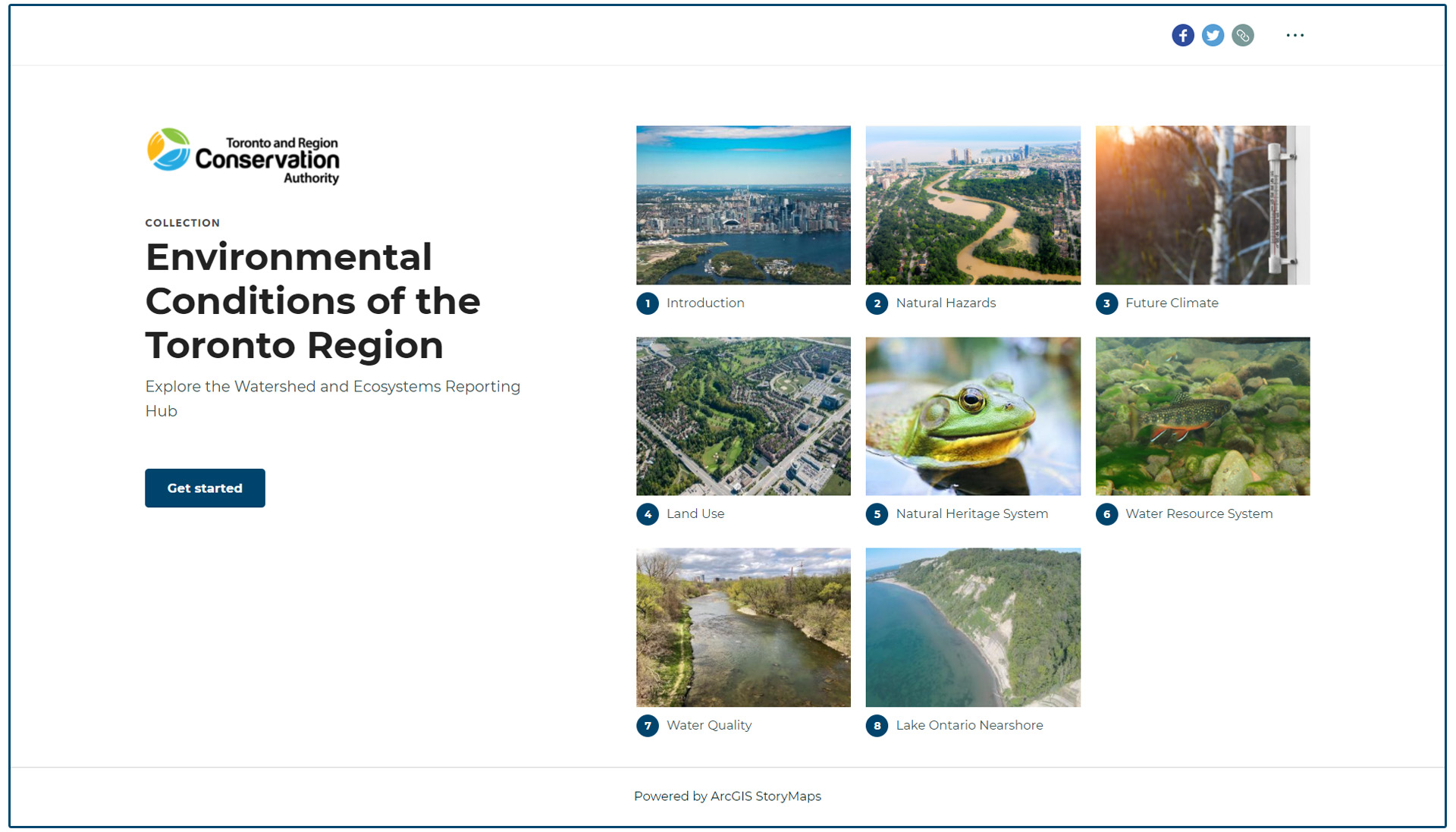 TRCA Watershed and Ecosystems Reporting  Hub