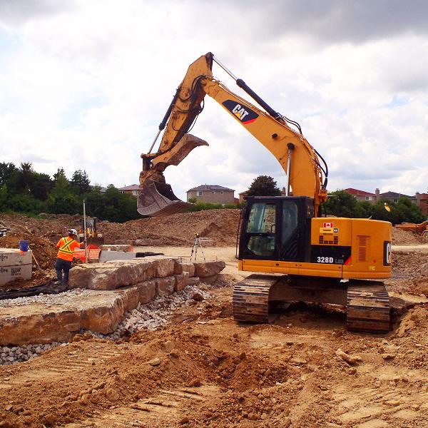 construction work underway in County Court SNAP neighbourhood