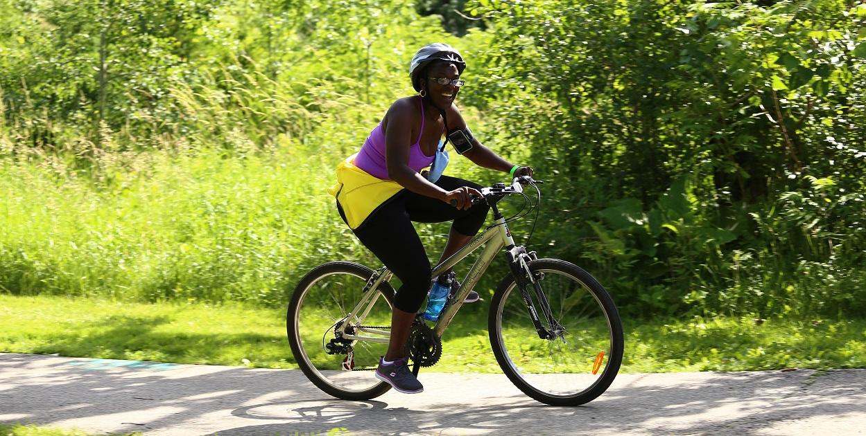 cyclist participates in Brampton Bike the Creek event
