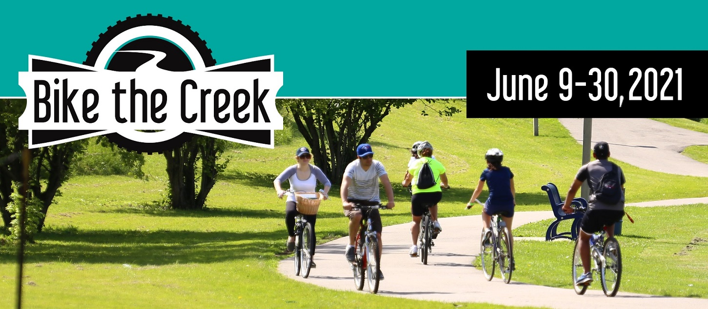 the 2021 Bike the Creek event takes place from June 9 to 30