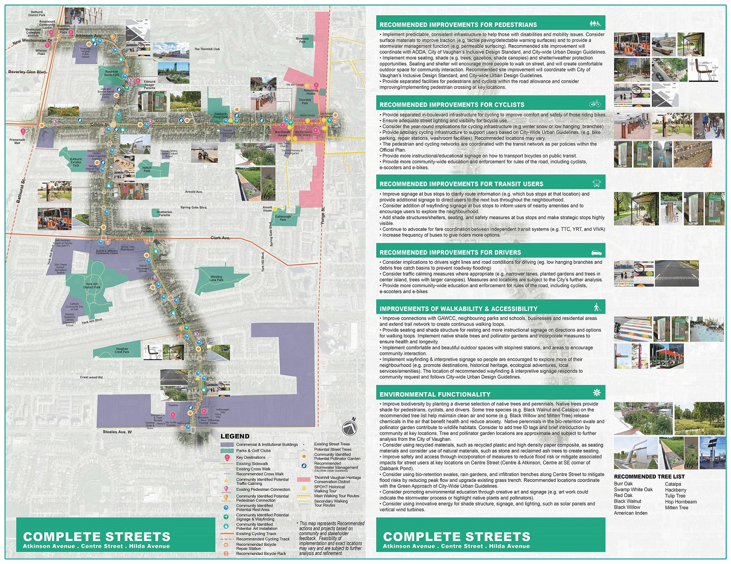 Thornhill SNAP complete streets conceptual plan