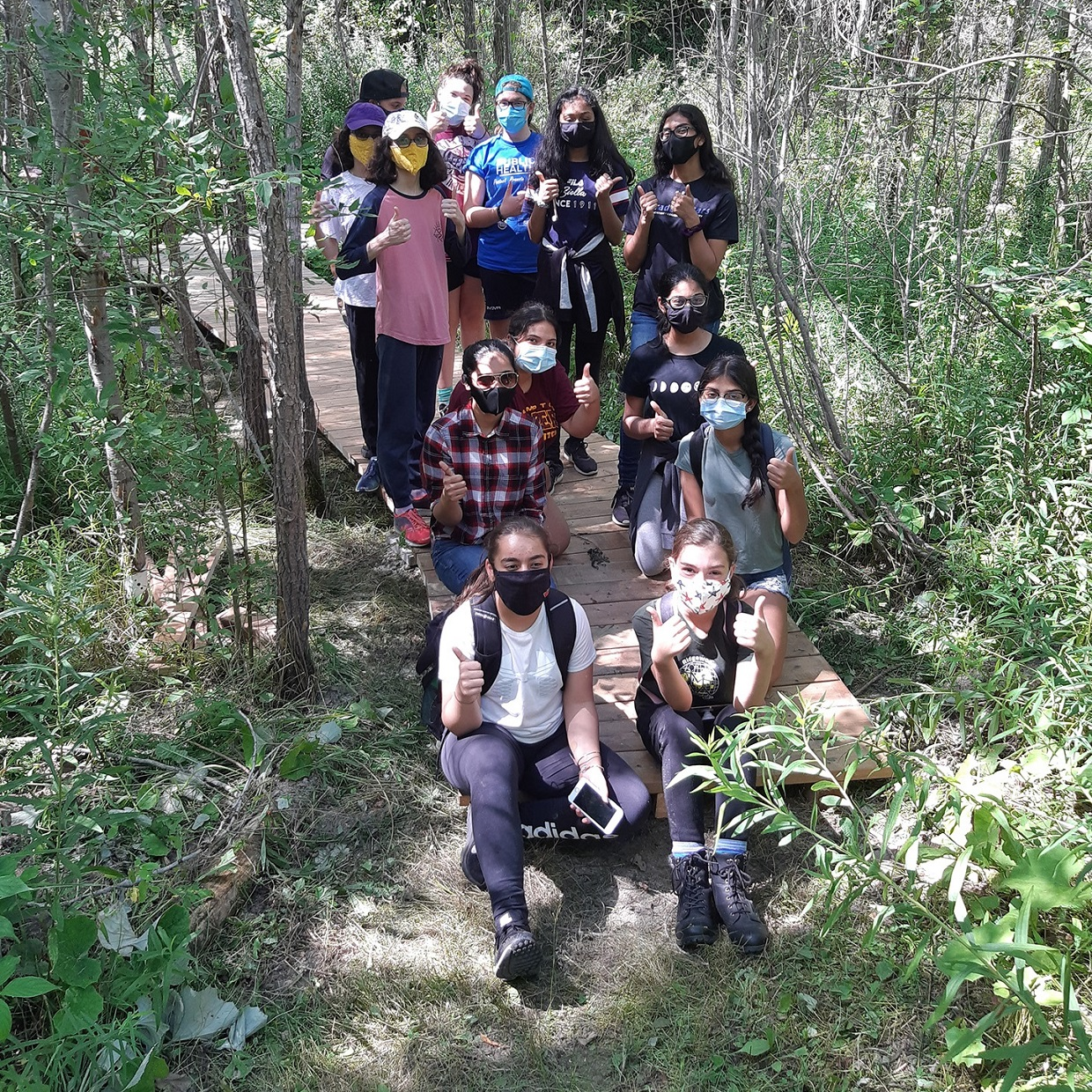 Participants in 2020 TRCA Girls Can Too program