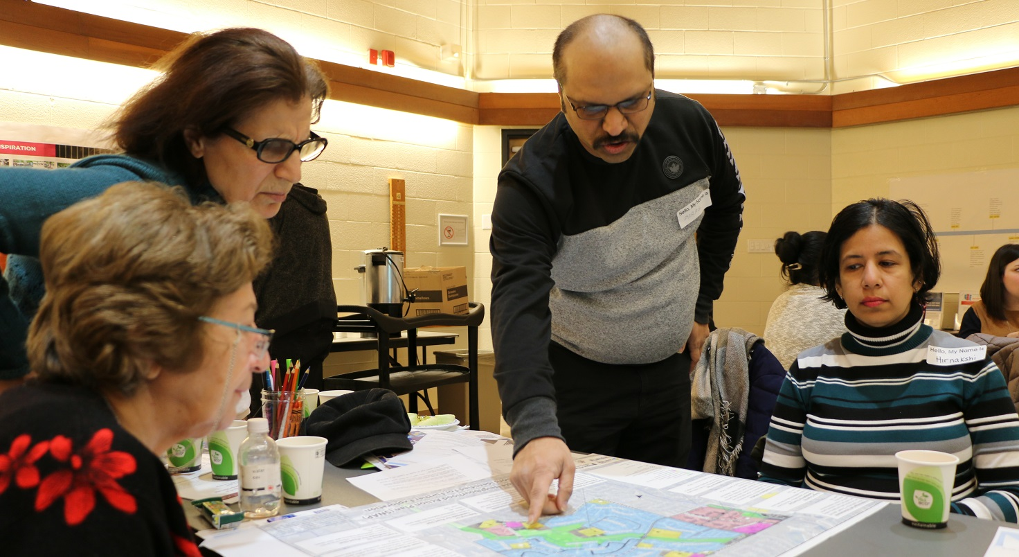 neighbourhood residents participate in Bramalea SNAP community engagement event