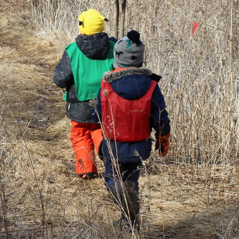 students explore trail during Forest Explorers program at Claremont Nature Centre