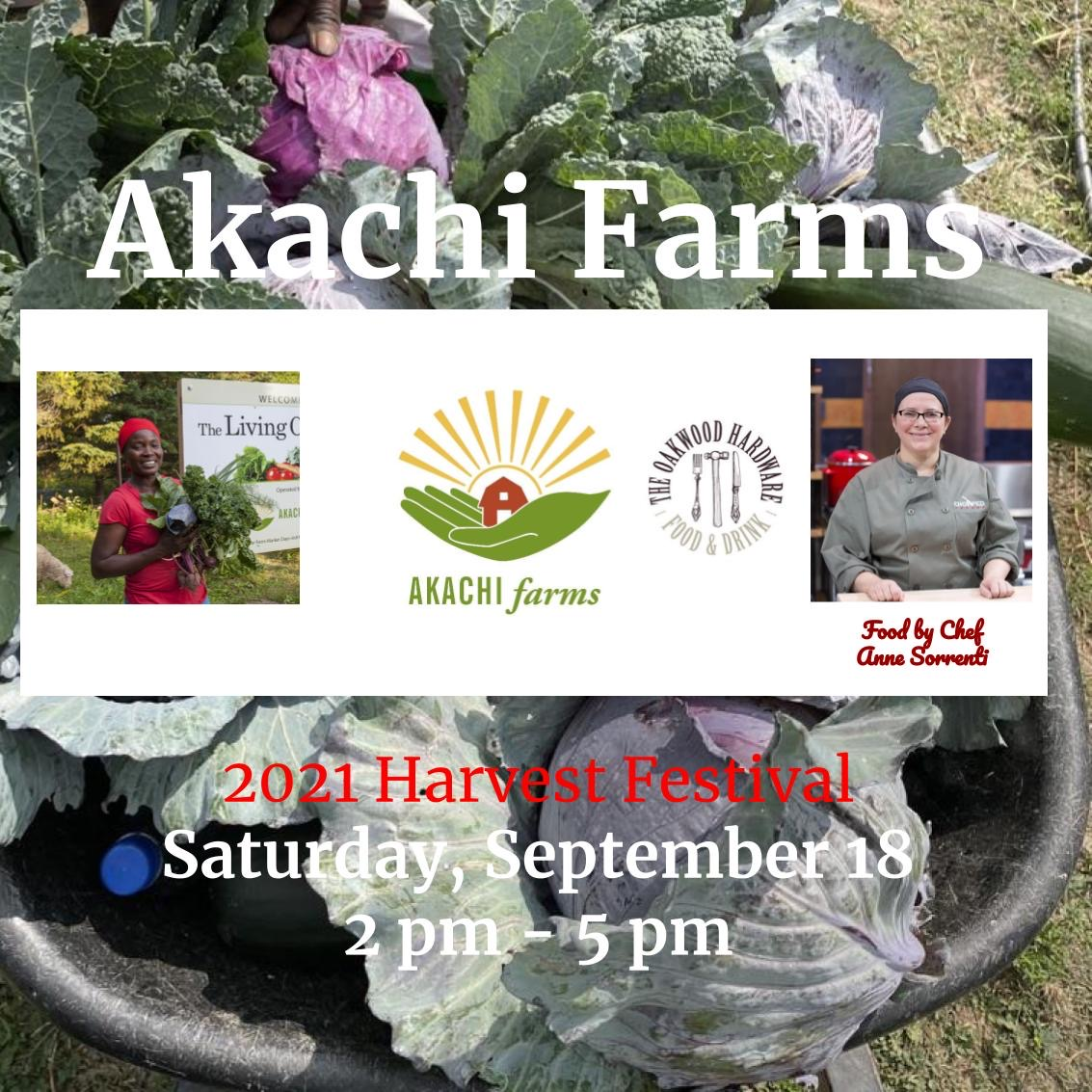 Akachi Farms event flyer