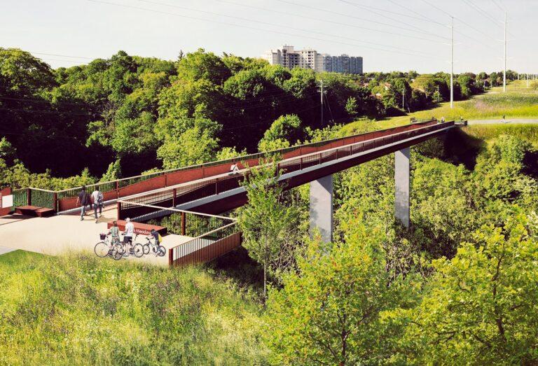 designer rendering of Ellesmere Crossing in The Meadoway